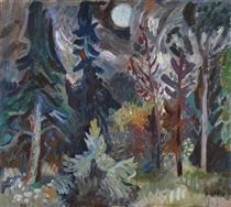 Full Moon & Silence - Karl Schrag