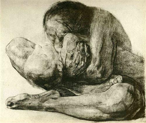 Woman with Dead Child - Kathe Kollwitz