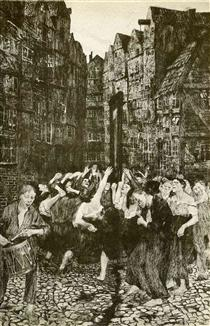 The Carmagnole (Dance Around the Guillotine) - Kathe Kollwitz