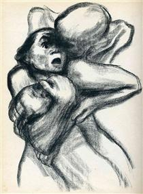 Death Seizing A Woman - Kathe Kollwitz