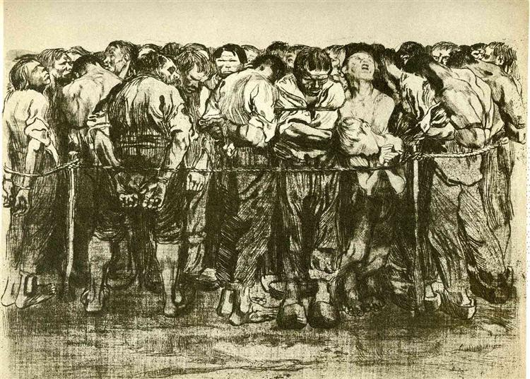 The Prisoners, 1908 - Kathe Kollwitz