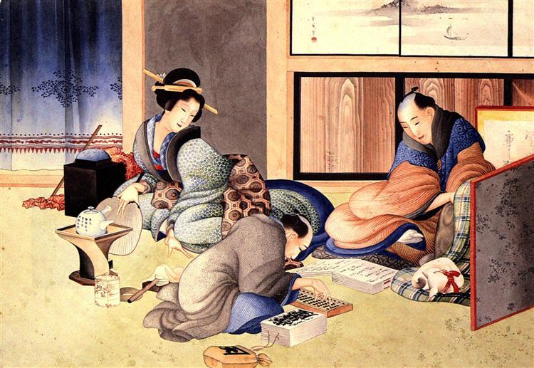 A merchant making up the account - Кацусика Хокусай