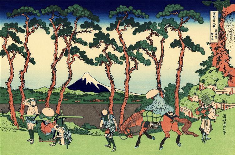 Hodogaya on the Tokaido - Katsushika Hokusai