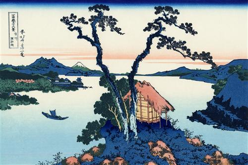 Lake Suwa in the Shinano province - Katsushika Hokusai