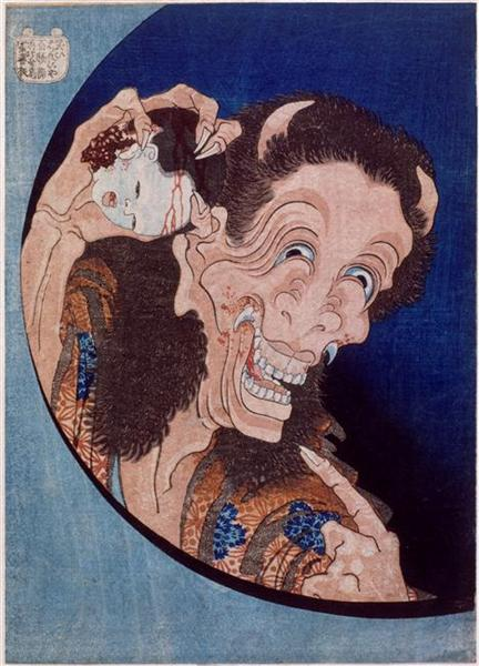 Laughingdemon, 1831 - Katsushika Hokusai