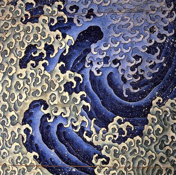 Masculine wave - Katsushika Hokusai