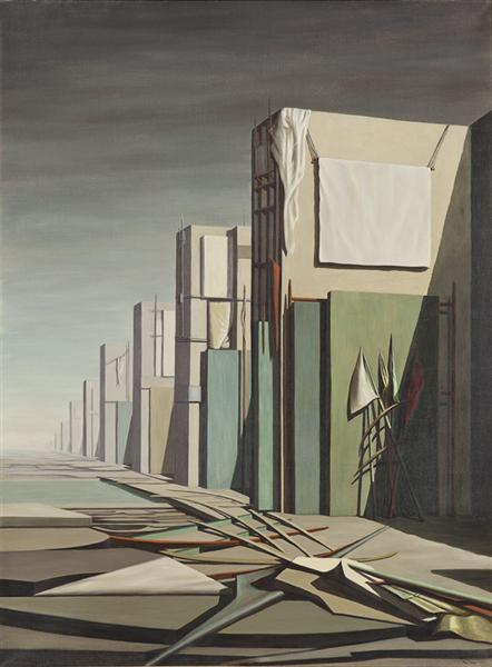No Passing, 1954 - Kay Sage