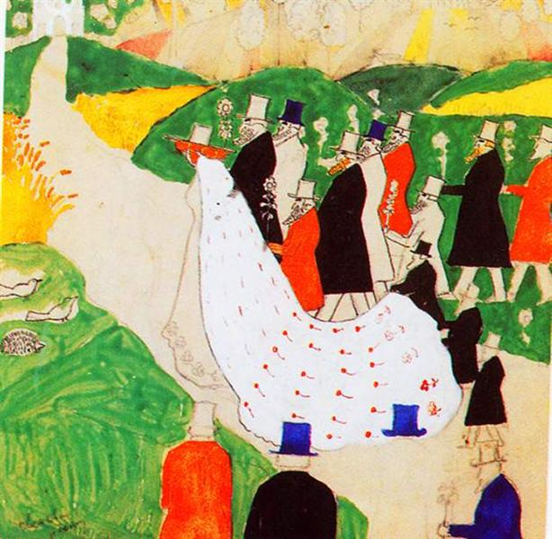 The wedding - Kazimir Malevich