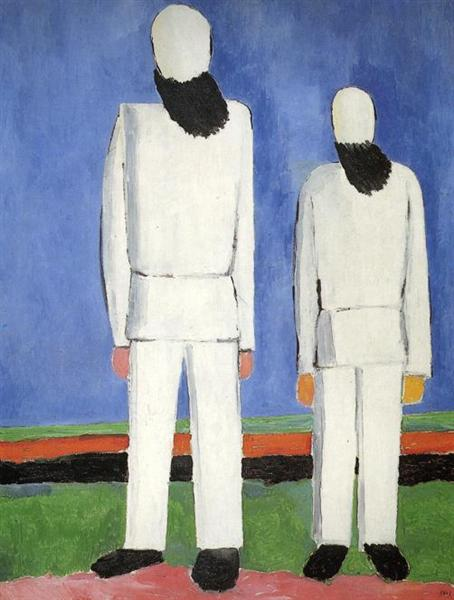 Two Male Figures, c.1932 - Kazimir Malevich