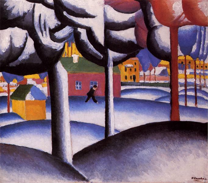 Winter Landscape, c.1930 - Kazimir Malevich