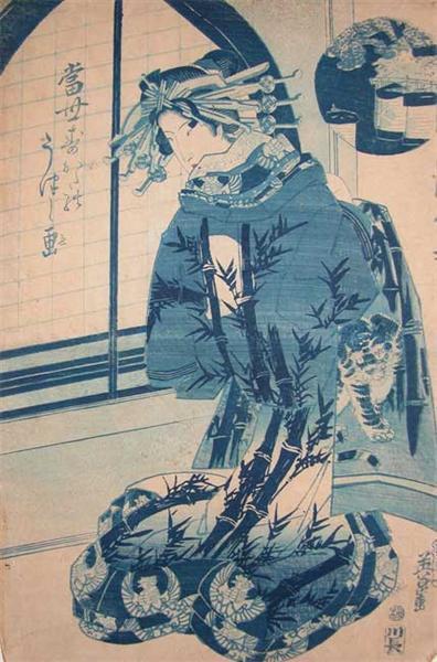 Beautiful Oiran, 1840 - Keisai Eisen