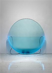 Lit Circle Blue with Etched Glass - Кіт Соньєр
