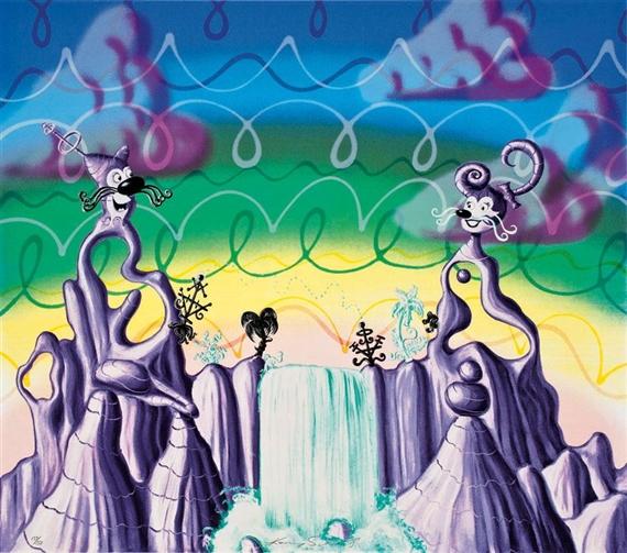 Agua Pollination, 1983 - Kenny Scharf