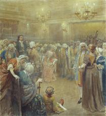 Assembly of Peter I - Klavdi Lébedev