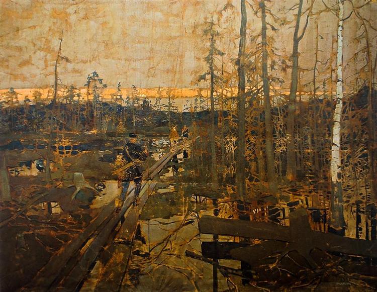 Первые шаги изыскателей в тундре, 1894 - Константин Коровин