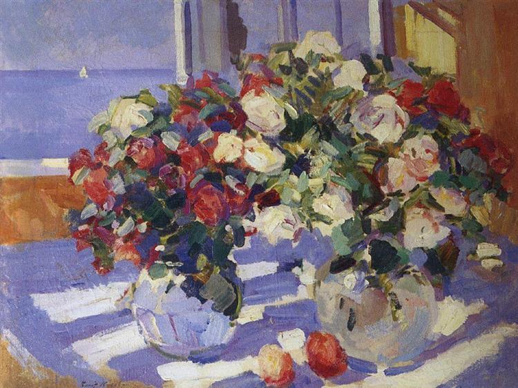 Roses, c.1910 - Konstantin Korovin