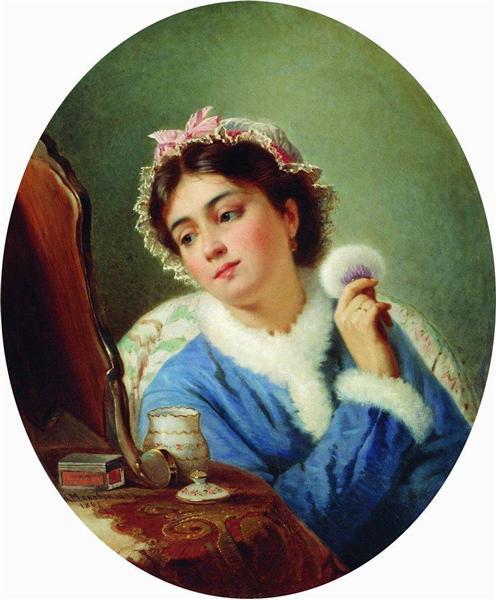 By the Toilet, 1863 - Konstantin Makovsky