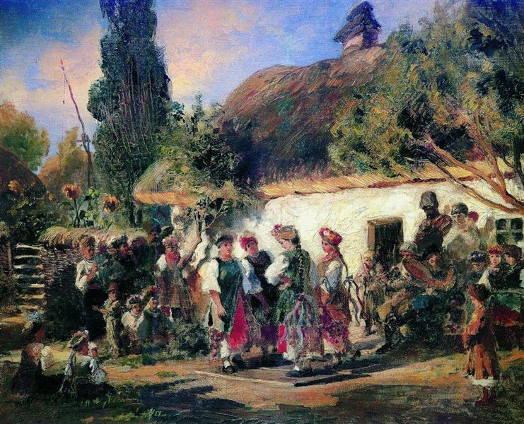 Celebration in Ukraine, c.1870 - c.1880 - Konstantin Makovsky