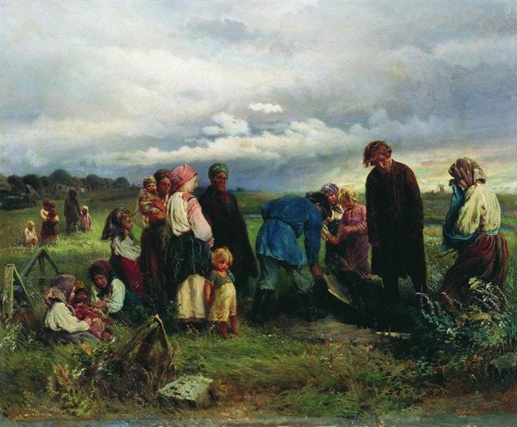 Child Funeral, 1872 - 康斯坦丁·马科夫斯基