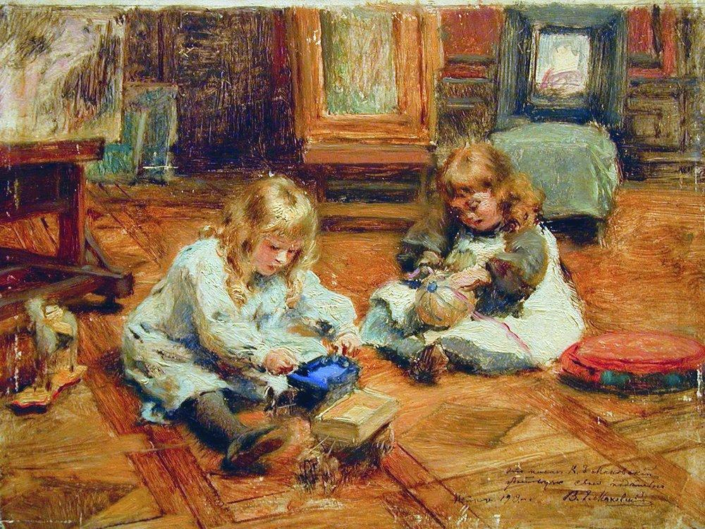 Image result for painting of a child playing