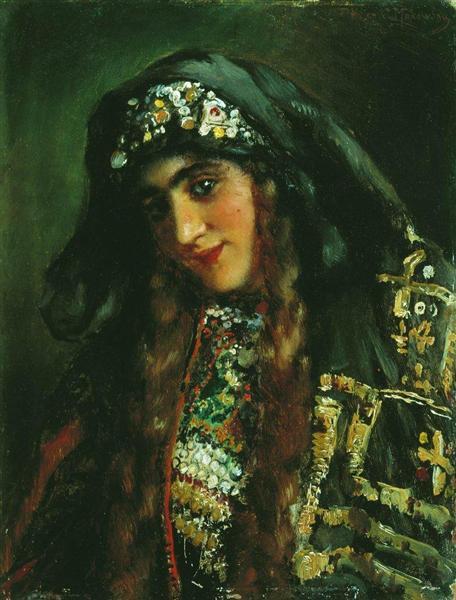 Girl in Oriental Dress, c.1870 - Konstantin Makovsky