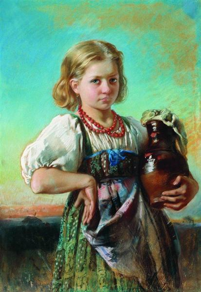 Girl with Jug, c.1880 - Konstantin Makovsky