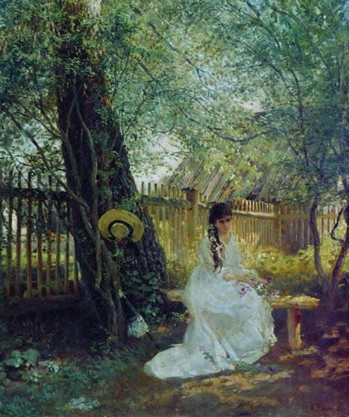 In the Garden, c.1870 - Konstantin Makovsky