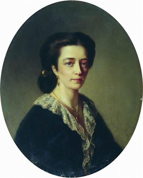 Lady in Black, 1864 - Konstantin Makovsky