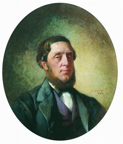 Мужской портрет, 1863 - Константин Маковский