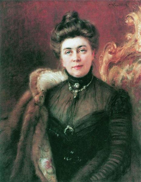 Portrait of A.Suvorina, c.1880 - Konstantin Makovsky