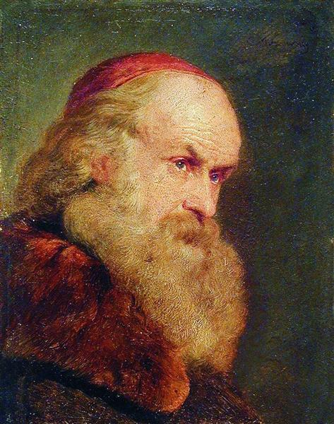 Portrait of an Old Man, c.1860 - Konstantin Makovsky