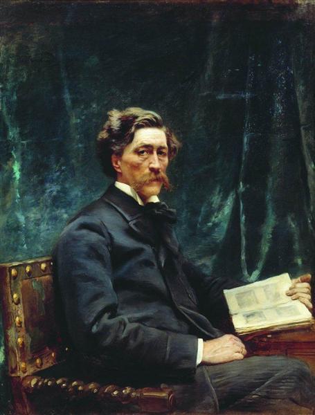 Portrait of S.Hudenkov, c.1890 - Konstantin Makovsky