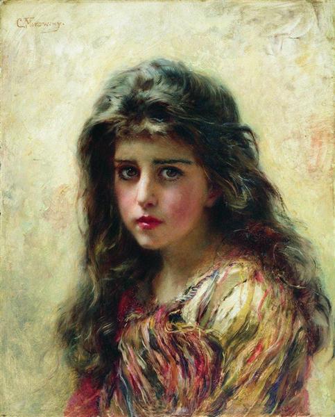 Portrait of the Girl - Konstantin Makovsky