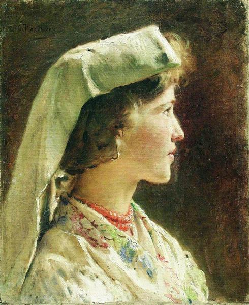 Portrait of the Girl, c.1910 - Konstantin Makovsky