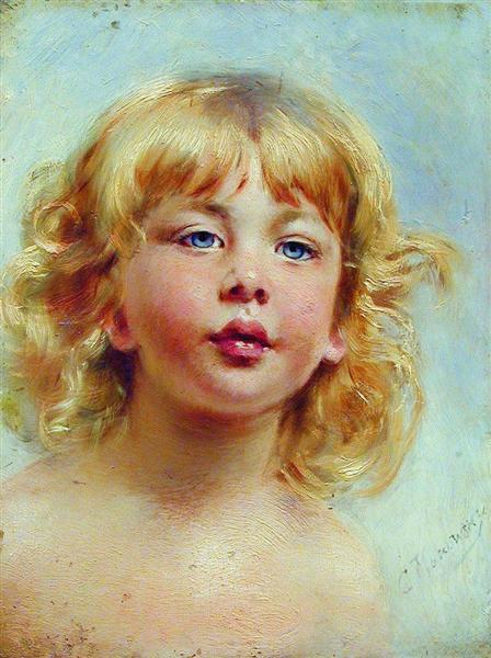 Portrait of the Girl, c.1880 - Konstantin Makovsky