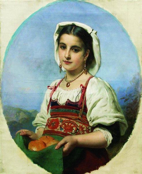 Young Italian with Sour Oranges, c.1870 - Konstantin Makovsky