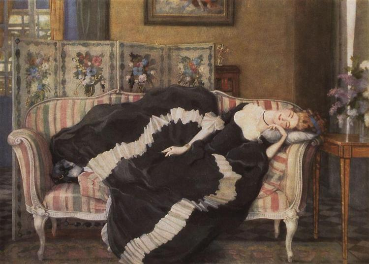 A Sleeping Woman, 1909 - Konstantin Somov