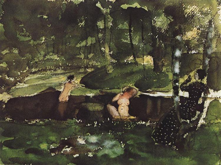 Bathing, 1904 - Konstantin Somov