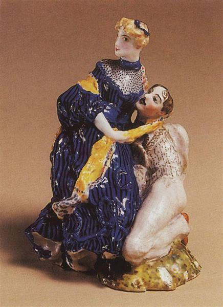 In Love (On the Stone), 1905 - 1906 - Konstantin Somov