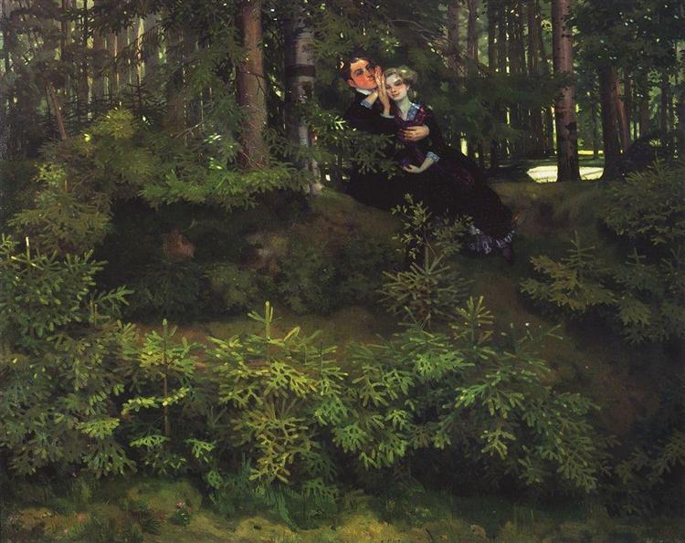 In the Forrest, 1914 - Konstantin Somov