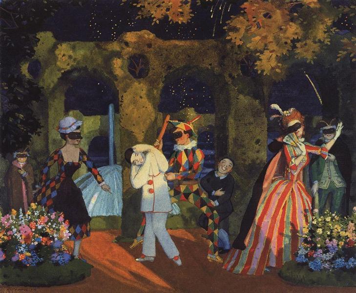 Italian Comedy 1, 1914 - Konstantin Somov