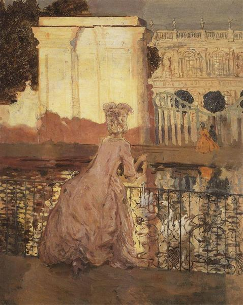 Lady by the Pool, 1896 - Konstantin Somov