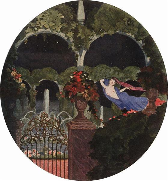 Magic Garden (Night Vision), 1914 - Konstantin Somov
