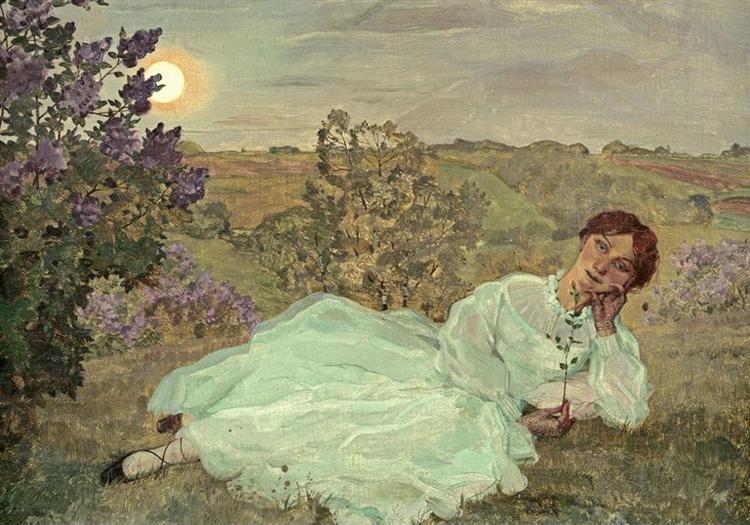Repose at Sunset, 1922 - Konstantin Somov