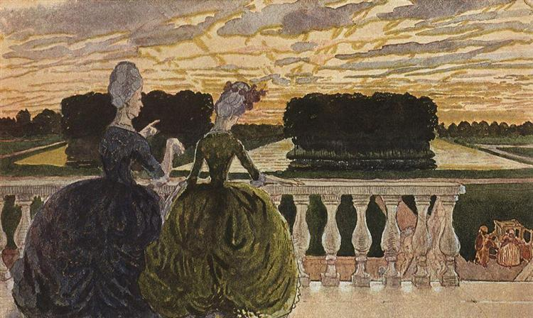 Two Ladies on the Terrace, 1896 - Konstantin Somov