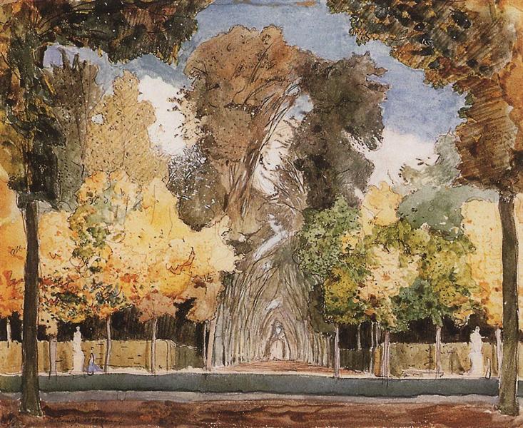 Versailles Park in autumn, 1898 - Konstantin Somov
