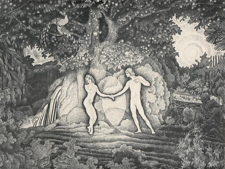 Adam and Eve, 1908 - 1909 - Konstantin Yuon