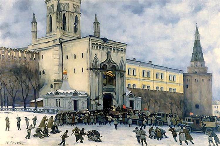 Assault on the Kremlin in 1917, 1951 - Konstantin Fjodorowitsch Juon