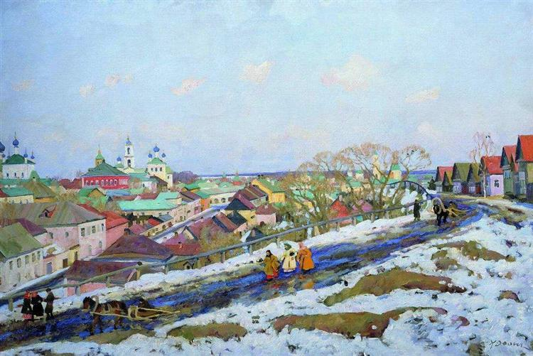 In The Province. Torzhok. Tver Governorate, 1914 - Konstantin Yuon