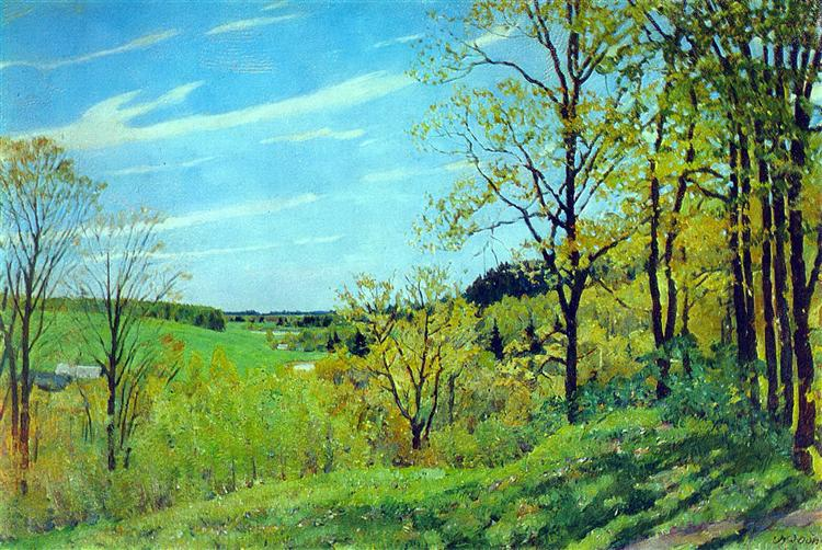 May Morning. Nightingale place. Ligachevo, 1915 - Konstantin Yuon